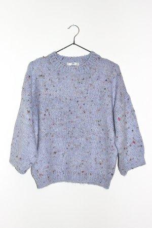 Mango Sweter z dzianiny błękitny-jasny fiolet