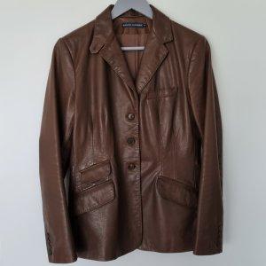 Ralph Lauren Blazer en cuir cognac-brun cuir