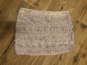 Sans Souci Lace Skirt gold-colored-grey brown