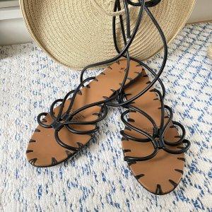 H&M Sandały rzymskie czarny