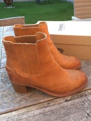 Shabbies amsterdam Slip-on Booties brown-cognac-coloured