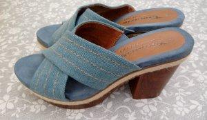 Tamaris Sandalias de tacón con plataforma azul-marrón