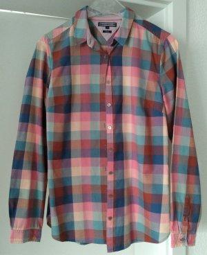 [WIE NEU] TOMMY HILFIGER # Langarm-Bluse # Karomuster # Fitted # Größe 8 (38) # mehrfarbig