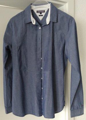 [WIE NEU] TOMMY HILFIGER # Langarm-Bluse # Must-have # Fitted # Größe 8 (38) # jeansblau