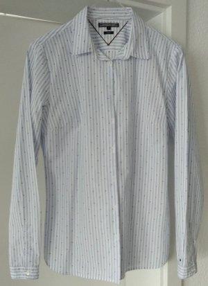 [WIE NEU] TOMMY HILFIGER # Langarm-Bluse # Streifendesign # Fitted # Größe 8 (38) # himmelblau-weiß-magenta