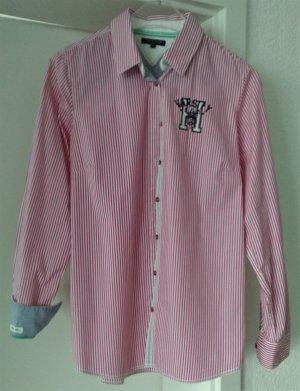 [WIE NEU] TOMMY HILFIGER # Langarm-Bluse # Streifendesign # Größe 8 (38) # magenta-weiß-dunkelblau-mintgrün