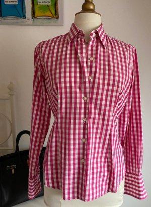 van Laack Shirt Blouse white-pink cotton
