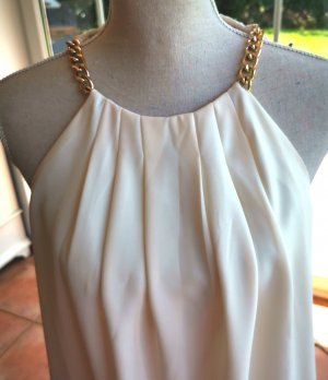 Apart Off-The-Shoulder Dress white-gold-colored