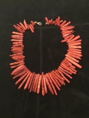 Colliers ras du cou rouge brique-rouge fluo