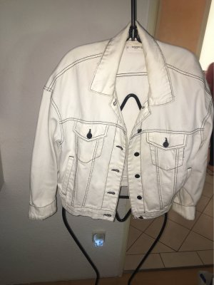 Mango Denim Jacket white-black