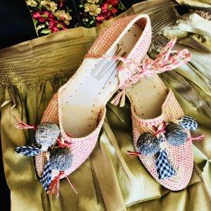 Bailarinas de tira crema-rosa