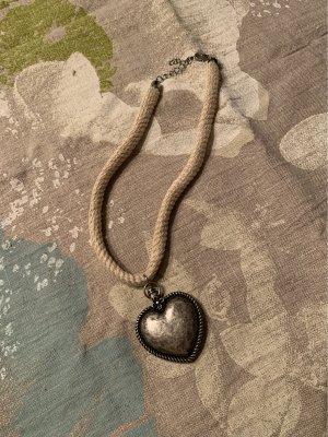 Wiesnkönig Statement Necklace cream-silver-colored