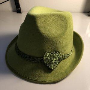 Folkloristische hoed limoen geel