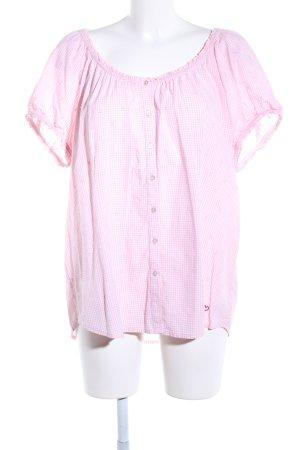 Wiesn Spatzl Blusa tradizionale rosa-bianco motivo a quadri stile casual