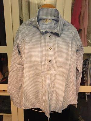 Almsach Blusa tradizionale bianco-azzurro