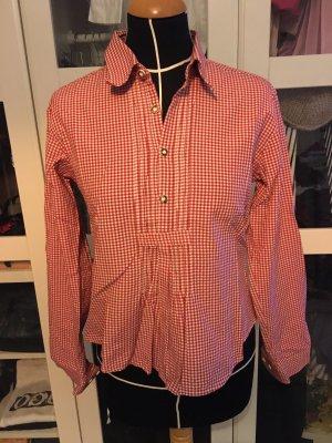 Almsach Tradycyjna bluzka biały-ciemnoczerwony