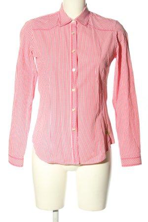 Wiesnkönig Trachtenhemd pink-weiß Allover-Druck Casual-Look