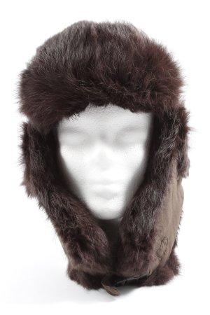 Wigens Bonnet cache-oreilles brun style décontracté