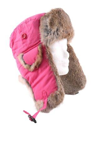 Wigens Bonnet cache-oreilles rose-brun style décontracté