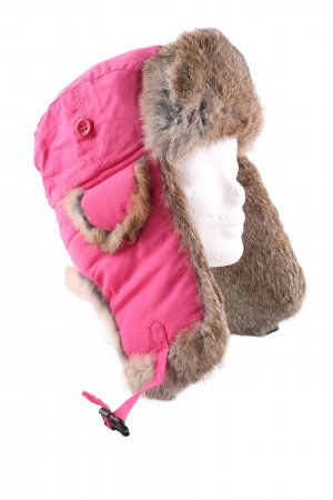 Wigens Lapland Hat pink-brown casual look