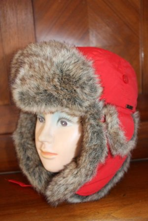 Wigens Fur Hat red mixture fibre