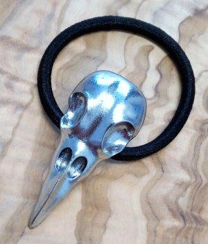 Bandeau cheveux argenté-noir métal