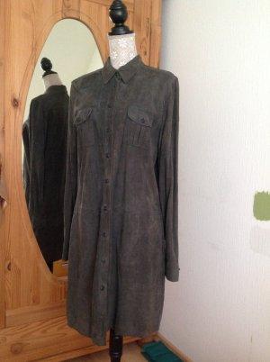 Wild - Leder - Kleid dunkelgrau Marc O' Polo