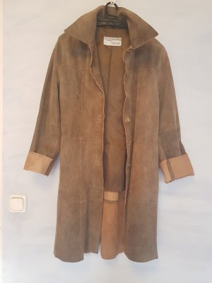 Heine Leather Coat light brown-camel leather