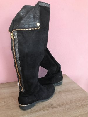 Young Spirit Wide Calf Boots black-gold-colored