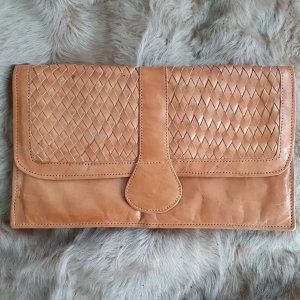 Clutch cognac-coloured