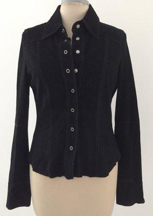 Zechenzeug Blusa de cuero negro