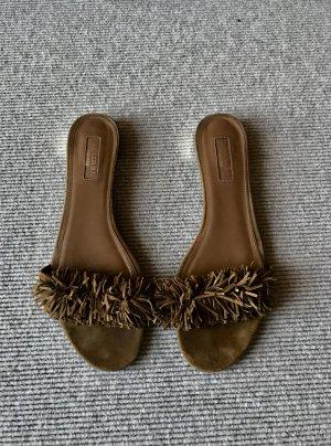 Aquazzura Sandalo con cinturino marrone chiaro