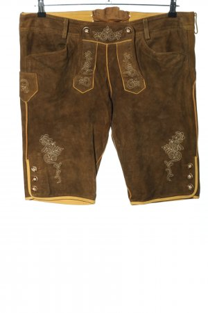 Wild & Wald Traditional Leather Trousers brown casual look