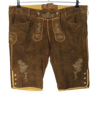 Wild & Wald Pantalone in pelle tradizionale marrone stile casual