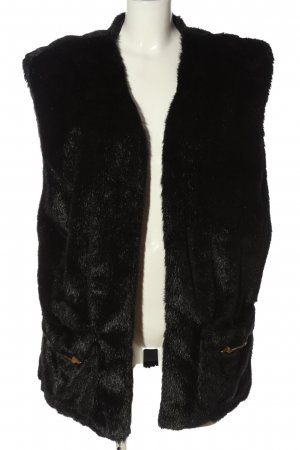 Wildcats Fake Fur Vest black casual look