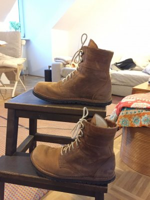 Waldviertler Futrzane buty Wielokolorowy Skóra