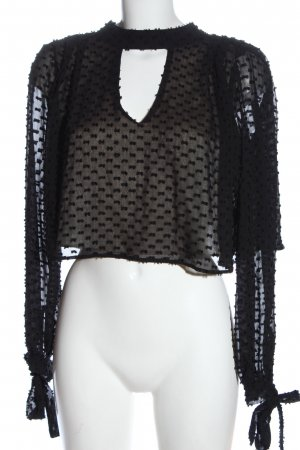 Wildfox Blusa trasparente nero elegante