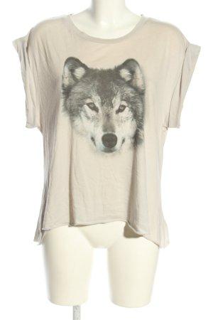 Wildfox Oversized Shirt creme-hellgrau Motivdruck Casual-Look