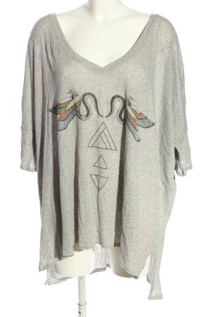 Wildfox Oversized Shirt hellgrau meliert Casual-Look