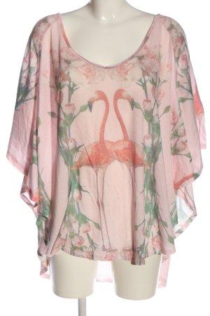 Wildfox Oversized Shirt pink-grün Allover-Druck Casual-Look