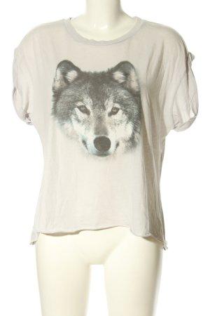 Wildfox Camicia fantasia grigio chiaro-bianco sporco Stampa a tema stile casual