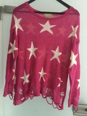Wildfox Maglione lavorato a maglia rosa