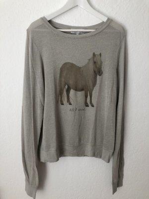 Wildfox Pullover Sweatshirt Strickpullover Grau Pony Gr. S