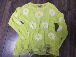 Wildfox Pull en laine vert pâle