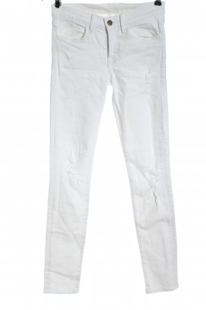 Wildfox Jeans a sigaretta bianco stile casual