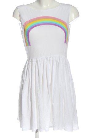 Wildfox Sommerkleid weiß Motivdruck Casual-Look