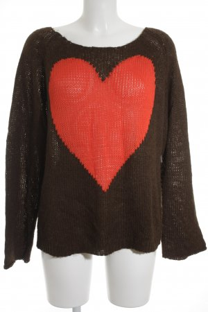 Wildfox Strickpullover braun-rot Street-Fashion-Look
