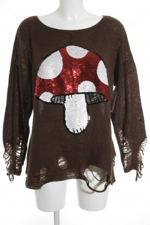 Wildfox Strickpullover mehrfarbig Street-Fashion-Look