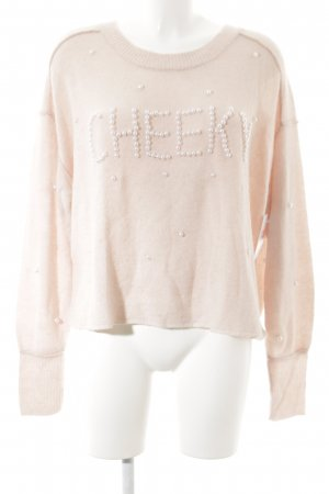 Wildfox Strickpullover rosé Casual-Look