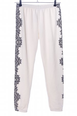 Wildfox Joggingbroek wolwit abstract patroon casual uitstraling